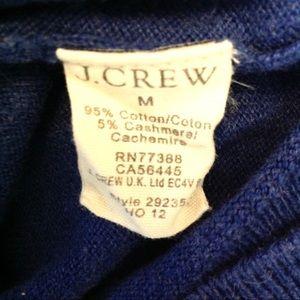 J. Crew Sweaters - J Crew Mens V Neck Cotton Cashmere Sweater M-N396@